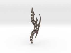 Prot Pendant 7cm in Polished Bronzed Silver Steel