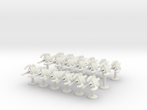 BFG Bug Assault Boats (x18) in White Natural Versatile Plastic
