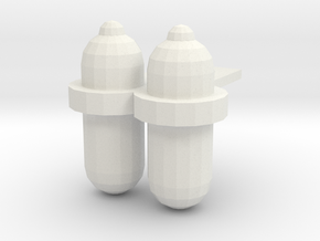 Scuba Tanks-001 in White Strong & Flexible