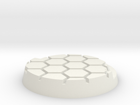 25mmbase-hex-SH in White Natural Versatile Plastic