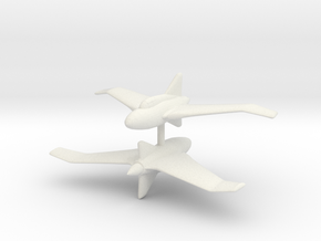 1/300 Northrop XP56 Black Bullet (x2) in White Natural Versatile Plastic