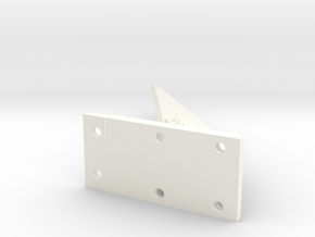 1:6 Scale Cable Cutter - Top & Bottom (Flat Base) in White Processed Versatile Plastic