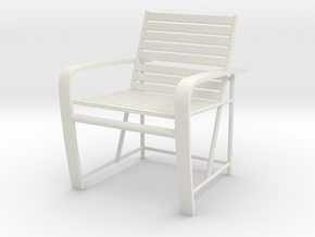 1:24 Metal Beach Chair (Not Full Scale) in White Strong & Flexible