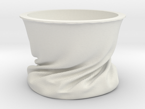 VelvetBowl in White Natural Versatile Plastic