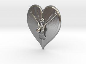 Joyful In Heart Pendant in Raw Silver