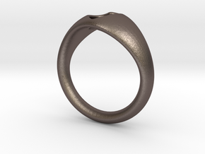 Ring-1 in Polished Bronzed Silver Steel