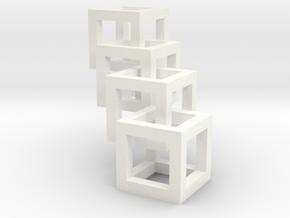 interlocked cubes in White Processed Versatile Plastic