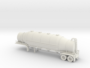 HO 1/87 Dry Bulk Trailer 09b - Heil 1625 Superflo in White Strong & Flexible