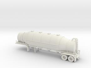 HO 1/87 Dry Bulk Trailer 09b - Heil 1625 Superflo in White Natural Versatile Plastic