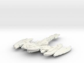Brinok Class Battleship in White Strong & Flexible