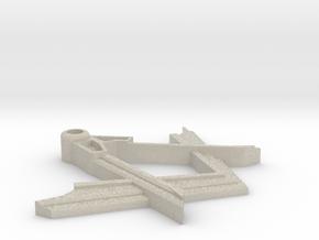 Masonic Pendant Square and Compass in Natural Sandstone