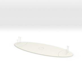 Quidditch Pitch (cheaper) in White Natural Versatile Plastic