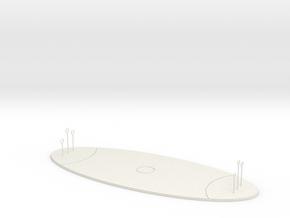 Quidditch Pitch in White Natural Versatile Plastic