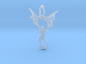 Dragon pendant # 6 in Smooth Fine Detail Plastic