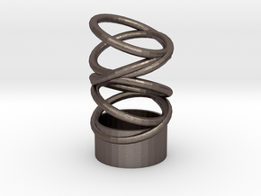 tealight holder in Polished Bronzed Silver Steel