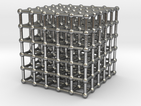 cube matrix (large) in Natural Silver