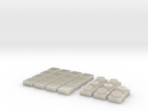 Baldosa1 (x16) + placa1 (x8) in White Acrylic
