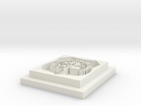 Calabar pendant  in White Natural Versatile Plastic