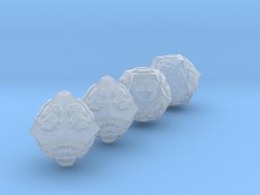 NECRON skull dice v2 d00 d10 d12 d20 in Smooth Fine Detail Plastic