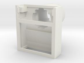 "IBM Model F - Barrel Flat ""Parak"" v2 in White Natural Versatile Plastic"
