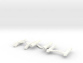 3-Pack of Nacelles in White Strong & Flexible Polished