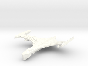 DeathHawk Class Cruiser ( Wings Up ) in White Strong & Flexible Polished