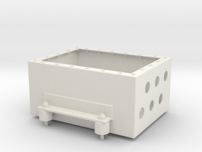 Junction Box With Mounts in White Natural Versatile Plastic