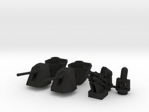 OtoMelara 4x, CIWS, RAM & Harpoon in Black Acrylic