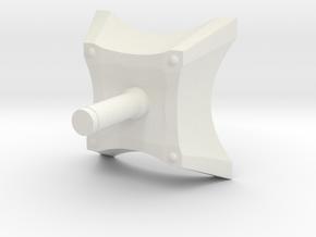 Spark Casing Bottom Handle Final R in White Natural Versatile Plastic