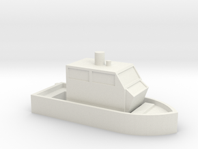 N Scale :: Boat in White Natural Versatile Plastic