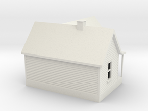 Old House 1:120 in White Natural Versatile Plastic