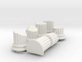 Broken Columns in White Natural Versatile Plastic