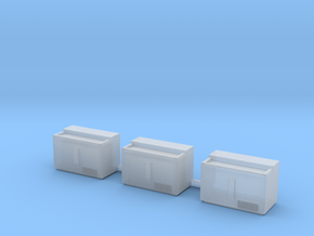 S-Scale 1950's Soda Cooler (3-Pack) in Frosted Ultra Detail