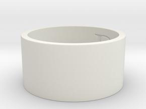DO Ring Size 7.5 in White Natural Versatile Plastic