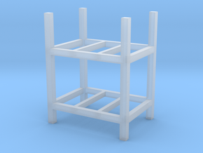 Steel Storage Racks 1-87 2 High in Smooth Fine Detail Plastic