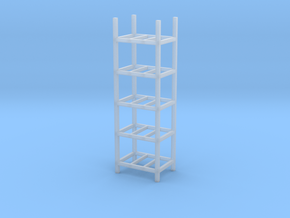 Steel Storage Racks 1/87(HO Scale) - 5 High in Frosted Ultra Detail