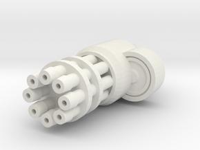 Gun Arm in White Natural Versatile Plastic