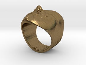 Anonymous ring 18mm in Natural Bronze