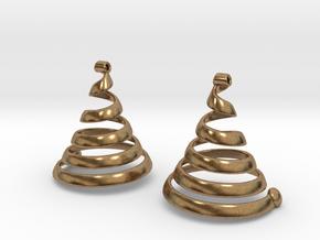 Spiralearring in Natural Brass