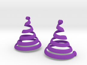 Spiralearring in Purple Processed Versatile Plastic