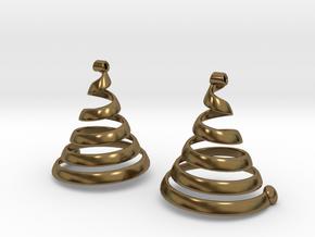 Spiralearring in Polished Bronze