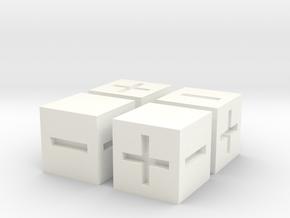 FATE (FUDGE) Dice in White Processed Versatile Plastic