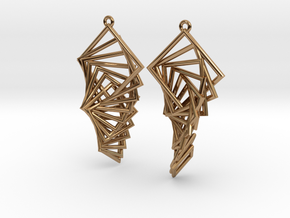 Arithmetic Earrings (Rhombus) in Polished Brass