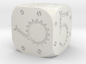 Tinker Die D6 Solid in White Natural Versatile Plastic
