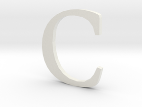 C (letters series) in White Strong & Flexible