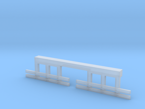 HO Scale Streetcar Safety FENDERS 1pr in Smooth Fine Detail Plastic