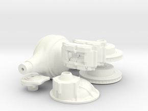 1/8 9 Inch Rear End with Disk Brakes Kit in White Processed Versatile Plastic