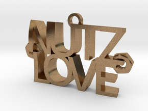 Nutz Love Letters in Natural Brass