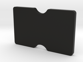 Slimline 3 card wallet in Black Natural Versatile Plastic