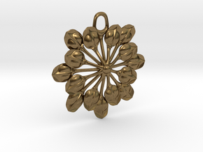 Sun Petals Pendant in Natural Bronze
